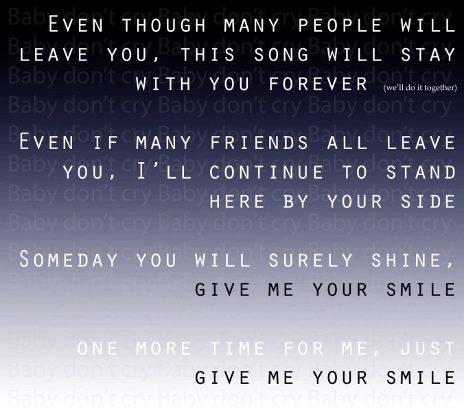 Lyrics created in Photoshop 11. Please credit if you remove for your own purposes.