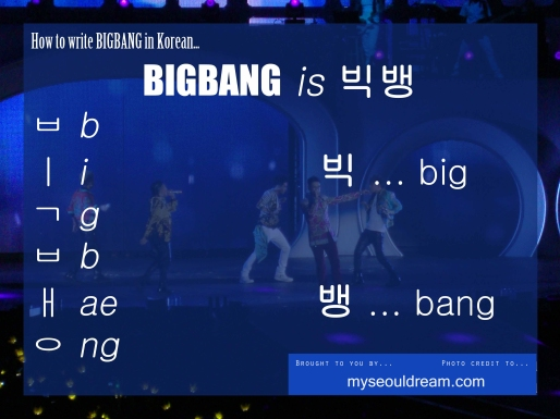 how to write BIGBANG