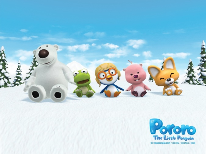Pororo and friends courtesy of http://themepack-gratis.blogspot.com/2011/10/pororo-little-penguin-wallpapers.html