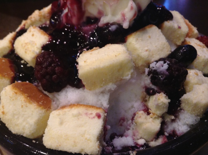 You might end up spending 10,000 won on a gloriously massive serving of patbingsu that three people could share.