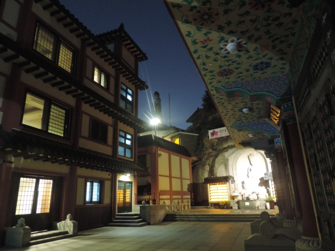Myogaksa at night.
